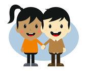 Love couple romance cartoon — Wektor stockowy