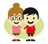 Love couple romance cartoon — Stock Vector