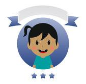 Cute girl cartoon — Stock Vector