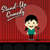 Mužské stand up komik — Stock vektor