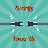 Electricity vintage theme — Stock Vector