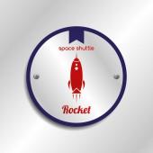 Space shuttle design — Stock Vector
