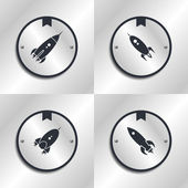 Space shuttle design set — Stock Vector