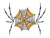 Color retro spiderweb — Stockvektor