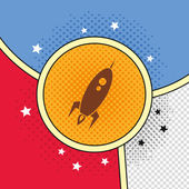 Fly space rocket — Stock Vector