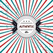 Authentic product badge — Stockvektor
