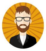 Retro guy hipster  cartoon — ストックベクタ