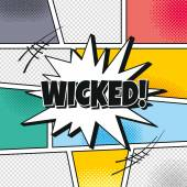 Wicked Cartoon theme speech — Stock Vector