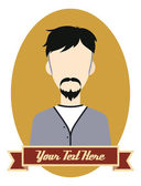 Retro guy hipster cartoon — Stock Vector