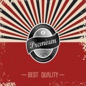 Premium retro badge — Stock Vector