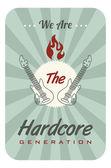 Hardcore music generation — Stock Vector