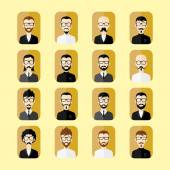 Retro guys cartoon — Stock Vector