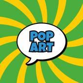 Abstract pop art background — Stock Vector