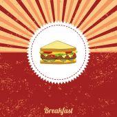 Sandwich vintage template — 图库矢量图片