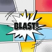 Blast Cartoon theme speech — Vector de stock