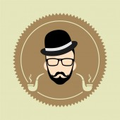 Gentleman cartoon user picture — Vector de stock