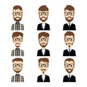 Gentlemen cartoon set — Stock Vector