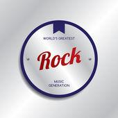Etiqueta de género de la música rock — Vector de stock