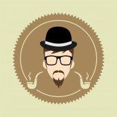 Gentleman  cartoon user — Stock Vector