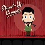 Hilarious comedy guy — Stock Vector #69755689