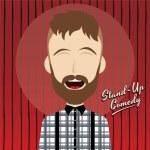 Hilarious comedy guy — Stock Vector #69756081