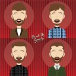 Set of hilarious comedy guy — Stock Vector #69756199