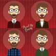 Set of hilarious comedy guy — Stock Vector #69756207