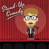 Hilarious comedy guy — Wektor stockowy