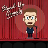 Hilarious comedy guy — Stock Vector