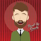 Hilarious comedy guy — Stock Vector