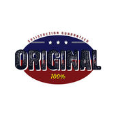Original vintage badge — ストックベクタ