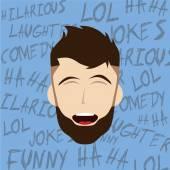 Hilarious laughing man — Wektor stockowy