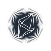 Shiny diamond isolated — Stock Vector