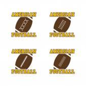 アメリカン フットボール セット — ストックベクタ