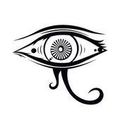 Eye of horus  illustration — Stock Vector
