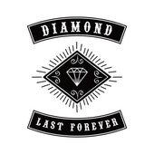 Diamond icon  illustration — Stock Vector