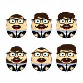 Businessman eggs dolls set — Stock Vector