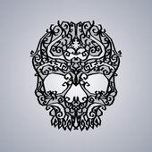 Ornament skull art — Stock Vector