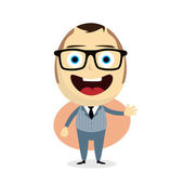 Happy businessman cartoon — Stock Vector