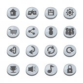 Abstract icons button set — Stock vektor