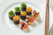 Japanese tasty sushi set — Stock Photo