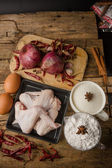 Aw chicken wings with spices - ready for cooking — Stock Photo