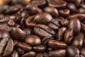 Coffee bean on grunge wooden background — Stock Photo