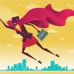 Businesswoman is a Superhero — Stock Vector #62965855