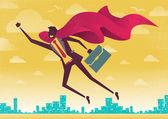 Businessman is a Superhero — Stock Vector