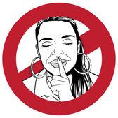 Sshhh Silence Warning Sign. — Stock fotografie