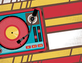 Retro Turntable Club Flyer. — Fotografia Stock