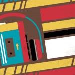 Old School Stereo Walkman Tape Cassette Player — Stock Photo #68760943