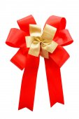 Red and gold color bow — Photo