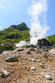 Owakudani valley ( volcanic valley with active sulphur and hot s — Stock Photo